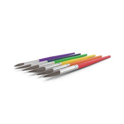 Pinceles de pintura multicolor