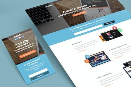 DotSquare Unbounce Landing Page Template