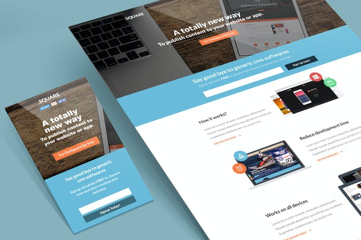 Thumbnail for DotSquare Unbounce Landing Page Template