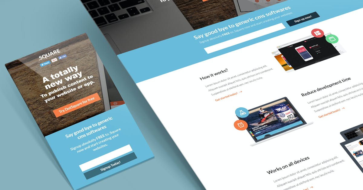 Download DotSquare Unbounce Landing Page Template by nasirwd