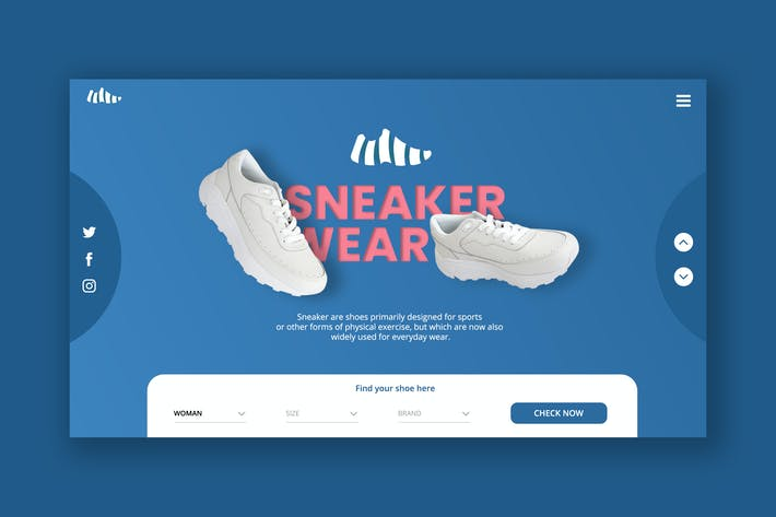 Thumbnail for Sneakers Hero Header Template