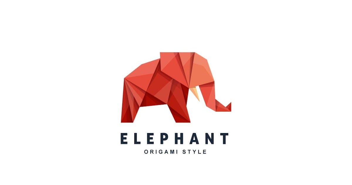 Download Elephant Origami Gradient Colorful Logo by ivan_artnivora
