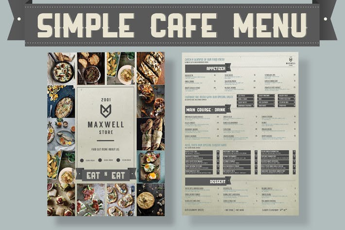 Thumbnail for Simple Cafe Menu