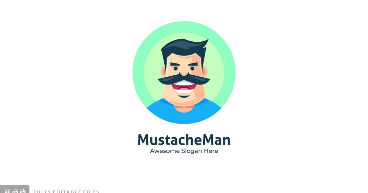 Download Mustache Man Logo Template by ivan_artnivora
