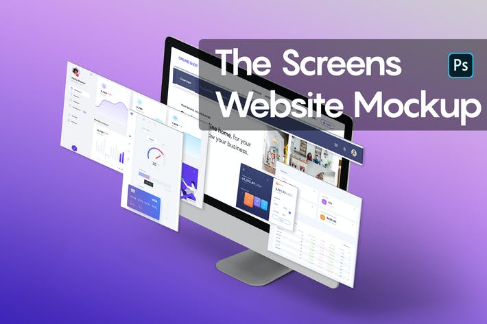 Thumbnail for The Screens Website Mockup