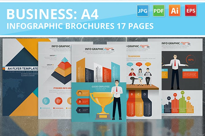 Thumbnail for Business Infographic Design 17 Pages
