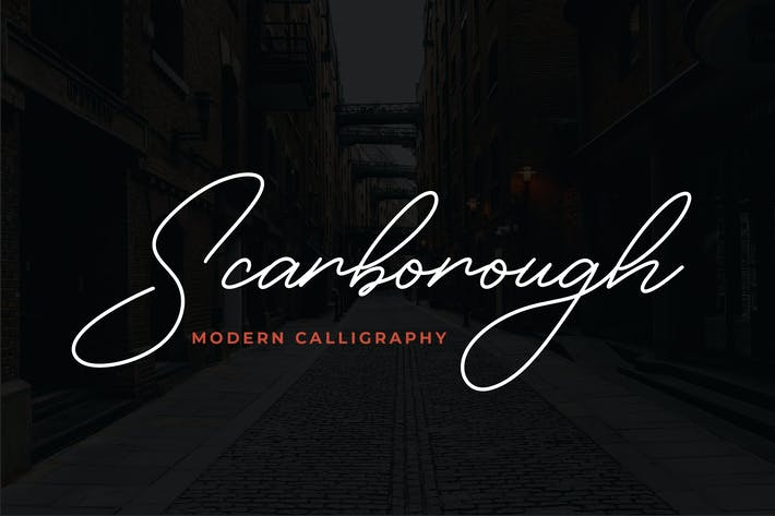 Thumbnail for Scarborough Modern Calligraphy Font