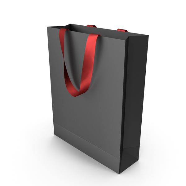 Thumbnail for Black Packaging Bag with Red Tape Handles