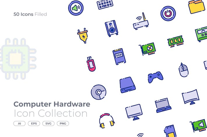 Computer Hardware Filled Icon