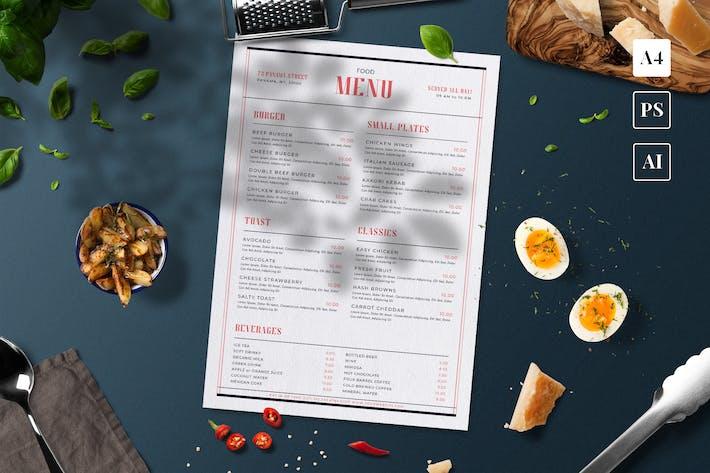 Thumbnail for Simple Food Menu