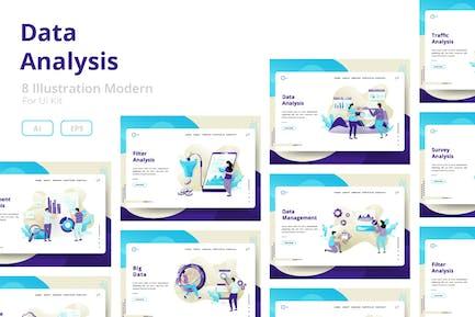 Data Analysis sets Illustration