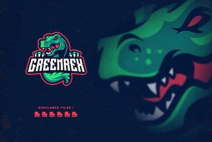 Green T-rex Sport and Esport Logo