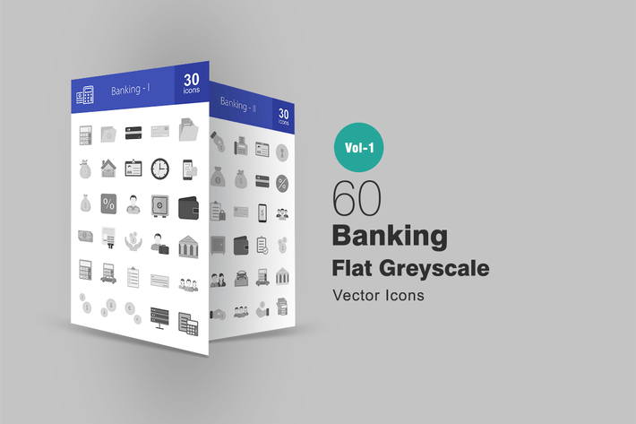 Thumbnail for 60 Banking Greyscale Icons