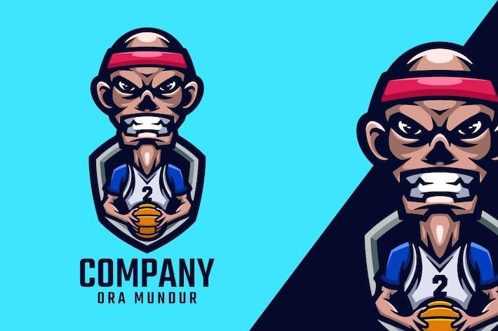Thumbnail for Basketball Player Logo Mascot