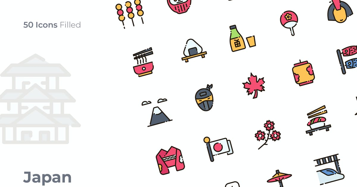 Download Japan Filled Icon by GoodWare_Std