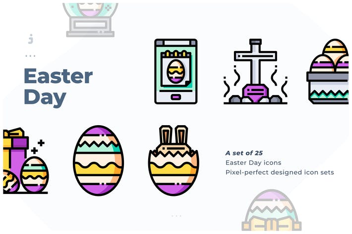 Thumbnail for 25 Easter Day Icon set