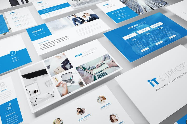Thumbnail for IT Support Powerpoint Template
