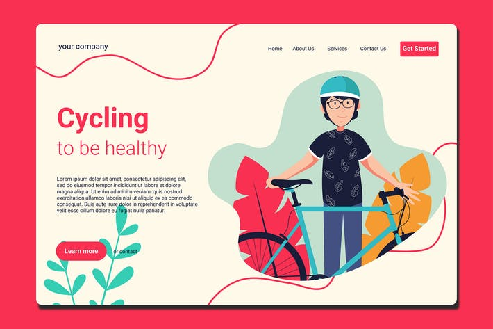 Thumbnail for Bike To Work - Landing Page