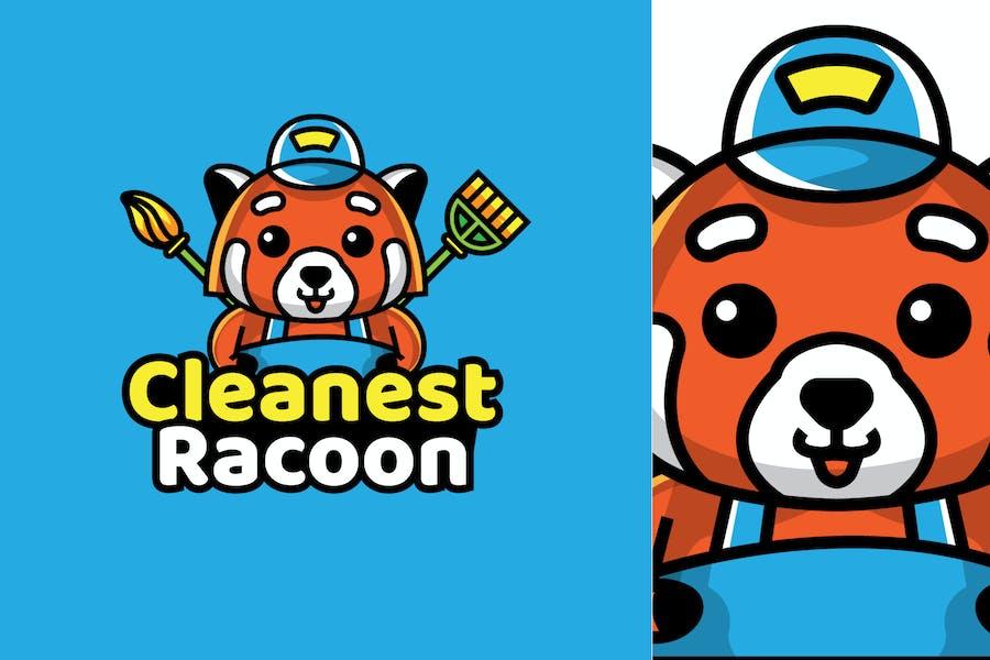 janitor racoon - Mascot & Esport Logo