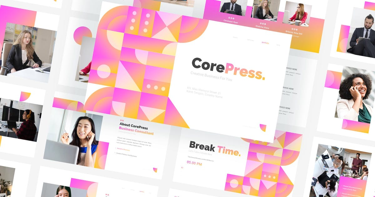 Download CorePress - Creative Business Keynote Template by CocoTemplates