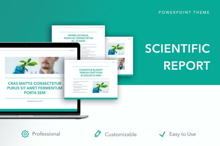 Thumbnail for Scientific Report PowerPoint Theme