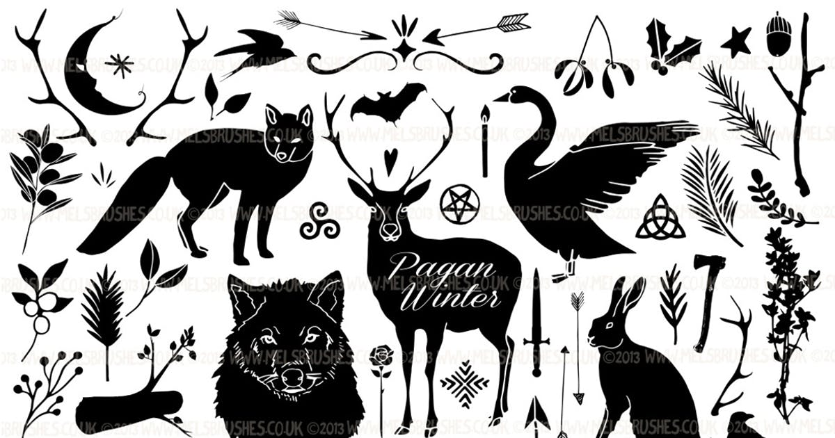 Download Pagan Winter Silhouette Illustrations by melrodicq
