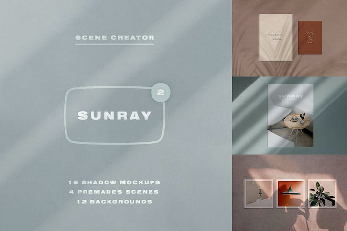 Thumbnail for Sunray 2 - Stationery Shadow Mockups