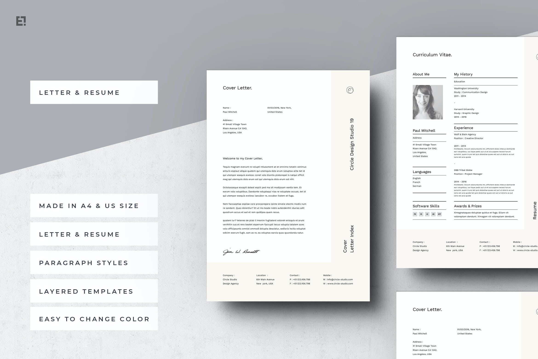 Resume Portfolio Cover Letter By Egotype On Envato Elements