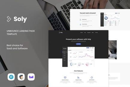 Soly - SaaS & Software Unbounce Landing Page