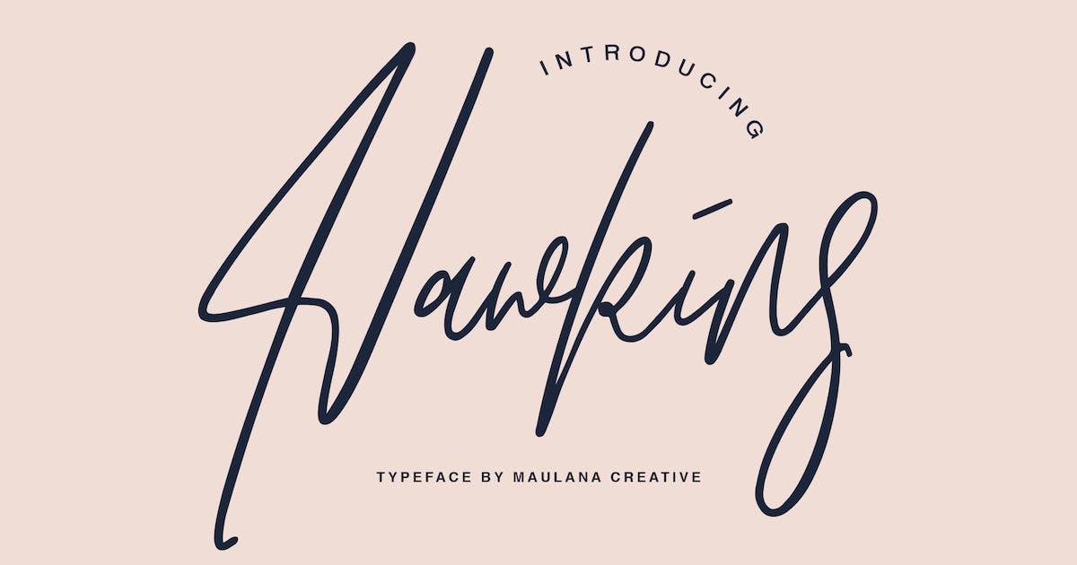 Download Hawkins Signature Brush Font by maulanacreative