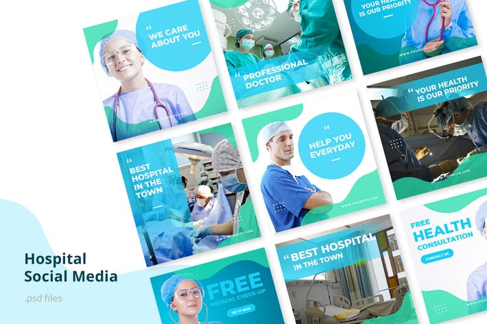 Cover Image For Social Media Kit Hospital
