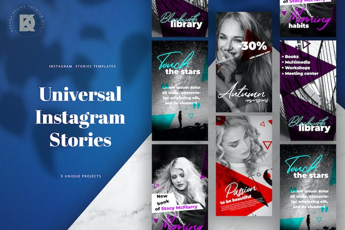 Thumbnail for Instagram Stories Universal Banners Pack