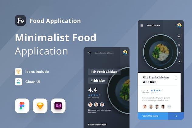 Minimalist Food Mobile App