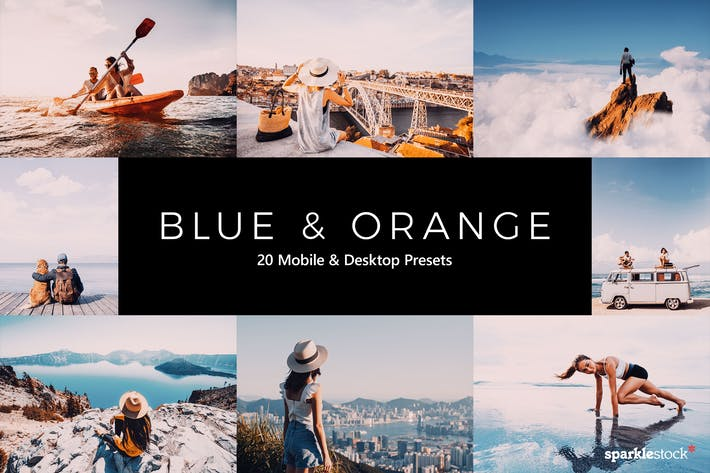 Thumbnail for 20 Blue and Orange Lightroom Presets & LUTs