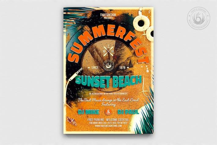 Thumbnail for Summer Fest Flyer Template V1
