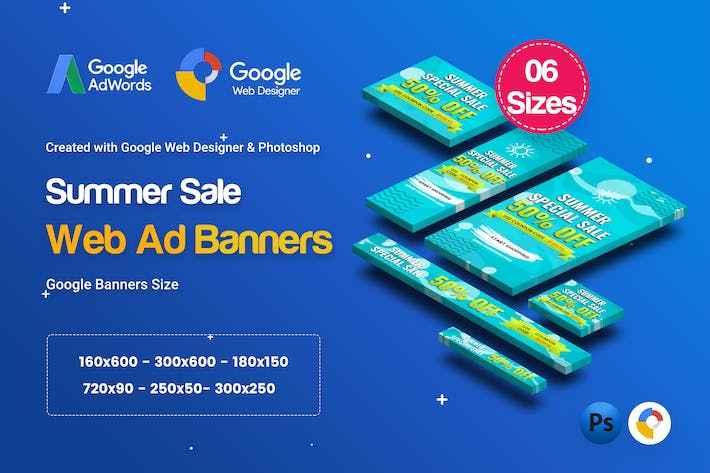 Thumbnail for C15 - Summer Sales Banners GWD & PSD