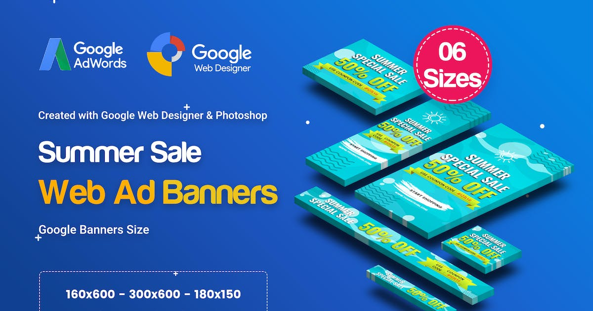 Download C15 - Summer Sales Banners GWD & PSD by iDoodle
