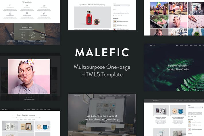 Thumbnail for Malefic - Multipurpose One Page HTML5 Template