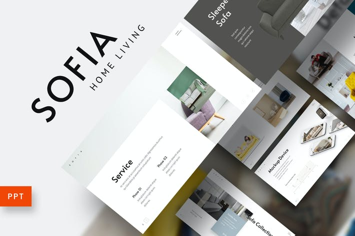 Thumbnail for Sofia - Home Interior Furniture Powerpoint Templat