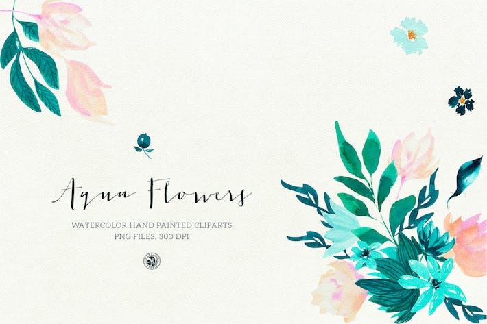 Thumbnail for Aqua Flowers