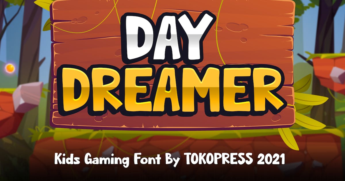Download Daydreamer - Kids Gaming font by tokopress
