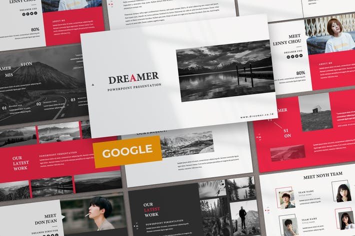 Cover Image For Dreamer Creative Business Google Slide