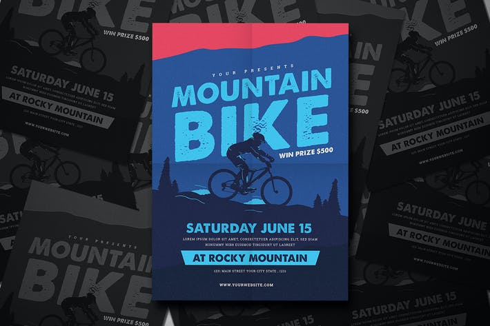 Mountain Bike Event Flyer