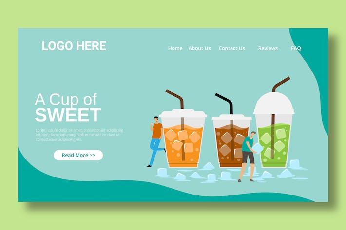 Ice Tea Drink - Landing Page