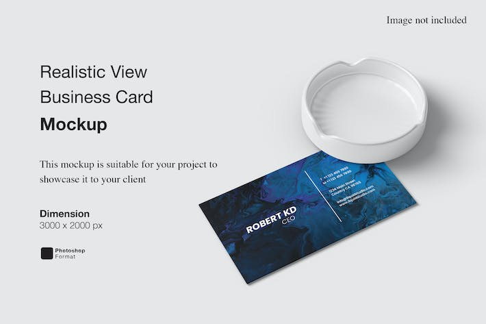 Realistic View Business Card Mockup