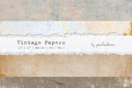 Vintage Papiere oder Hintergründe C