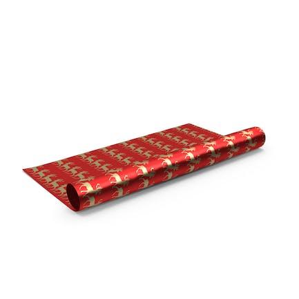 Weihnachten Deer Pattern Papierrolle für Geschenke