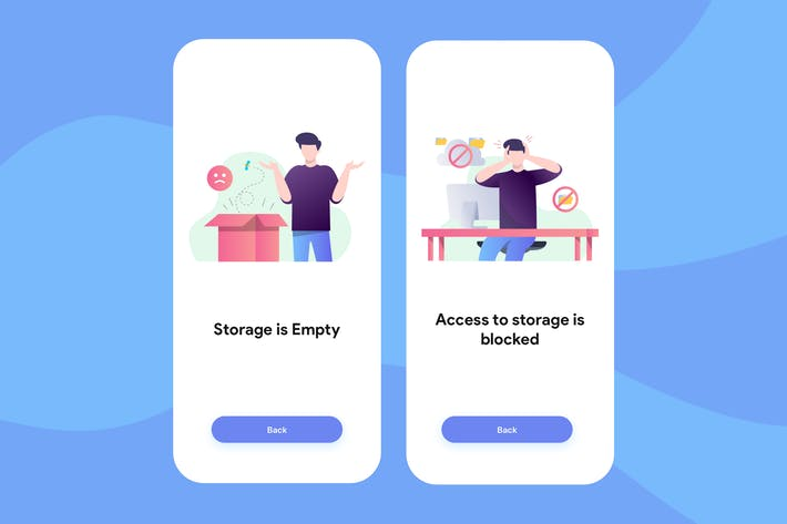 Thumbnail for Cloud Storage - Onboarding Illustration