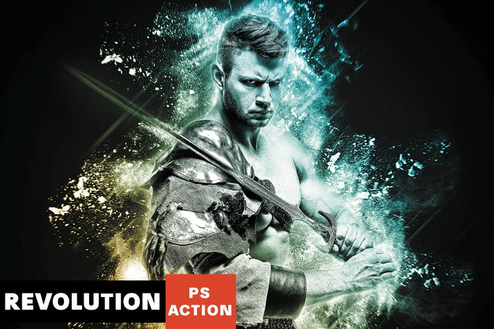 Thumbnail for Revolution Photoshop Action