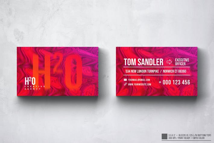 Thumbnail for H2O Multipurpose Business Card Design
